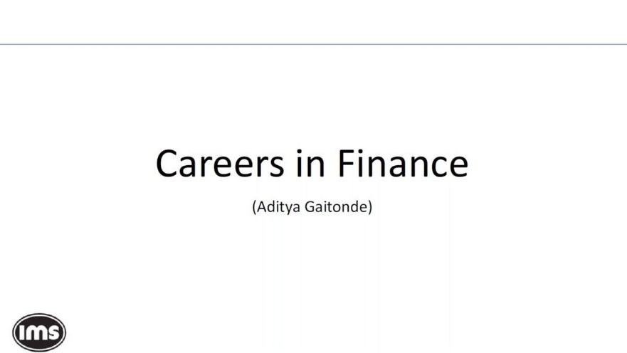 Careers in Finance   GoToStage com