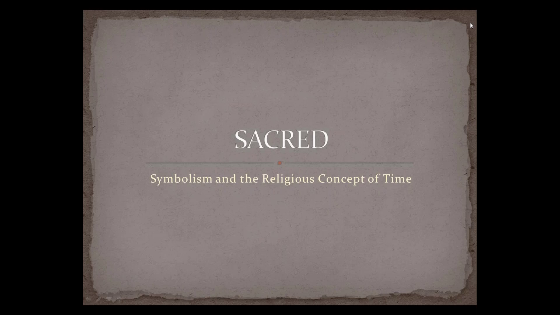 Sacred Time Symbolism And The Religious Concept Of Time Gotostage