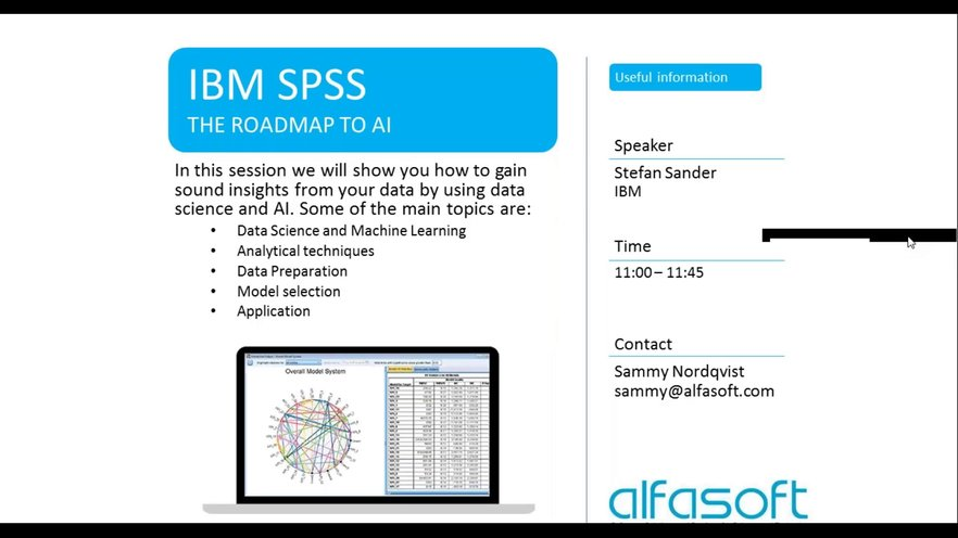 IBM SPSS - The roadmap to AI | GoToStage com