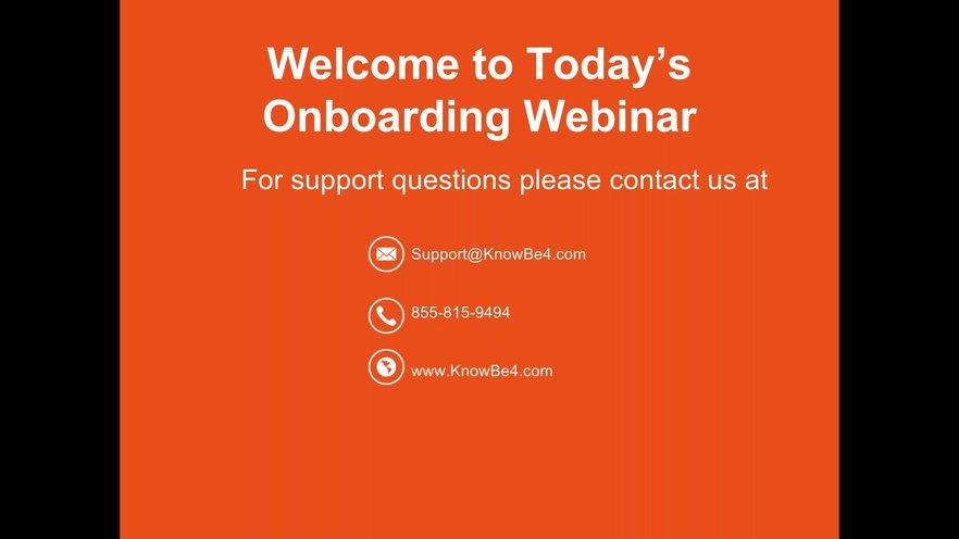 KnowBe4 Reseller-MSP Onboarding Webinar | GoToStage com