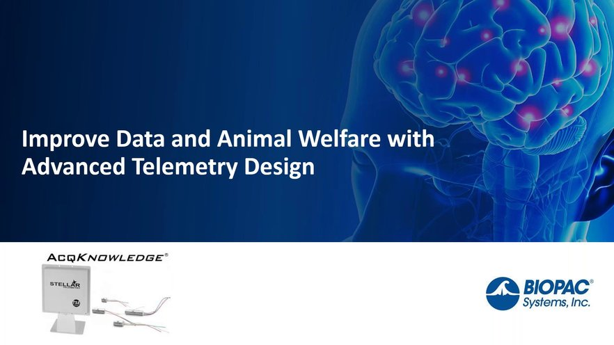 Improve Data And Animal Welfare With Advanced Telemetry Design Biopac