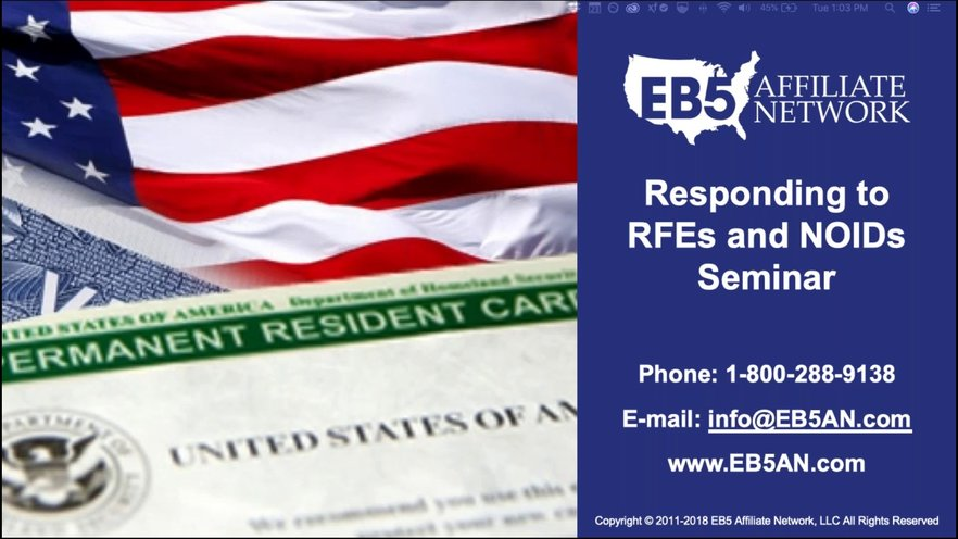 RFE-NOID Response Best Practices for EB-5 Projects and Investors