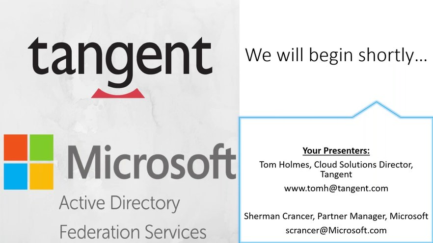 Microsoft Hosted Webinar Part 1: Single Sign On and ADFS | GoToStage com